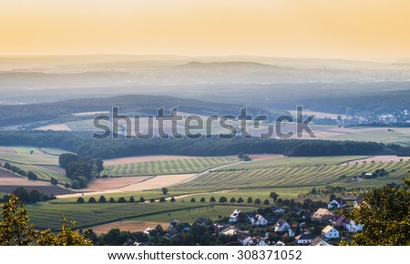 Countryside Summer Landscape in Bavaria