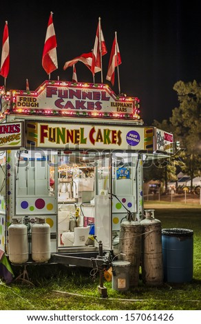County Fair Funnel Cake trailer - stock photo