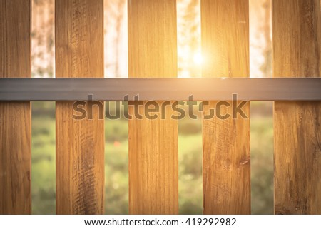 County style wooden fence. - stock photo
