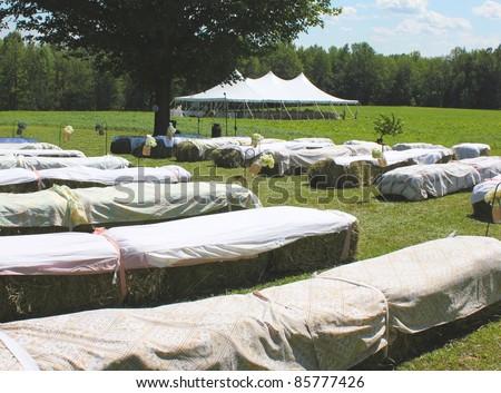 county wedding scene - stock photo