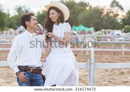 couple after wedding day - stock photo