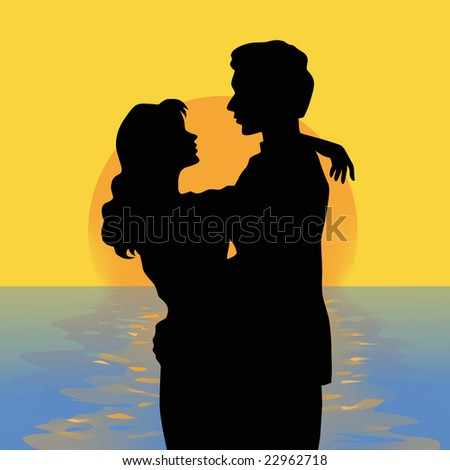 Couple and sea