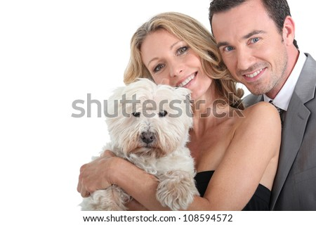 Couple and their dog.