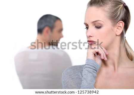 Couple arguing - stock photo