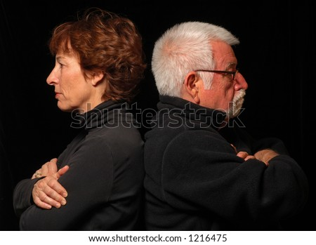 Couple at an impasse - stock photo