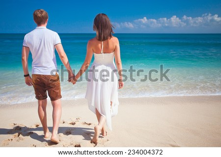 couple at the beach, Bali