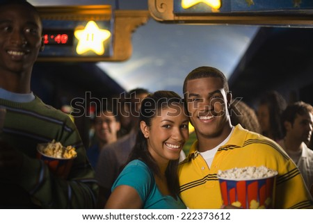 Couple at the Movies - stock photo