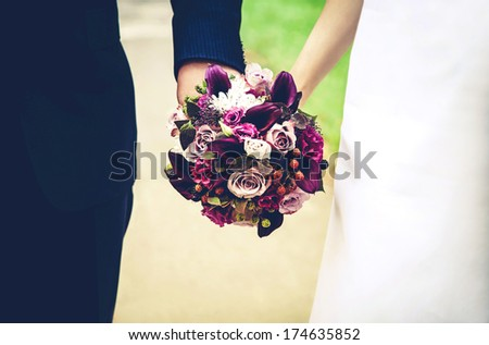 couple at wedding day - stock photo