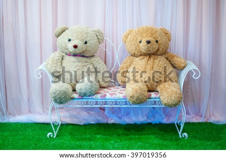 Couple bear dolls - stock photo