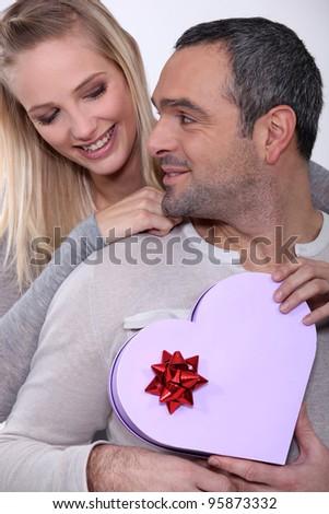 couple celebrating their love - stock photo
