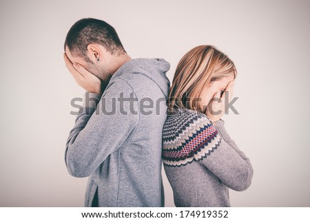 Couple crisis - stock photo