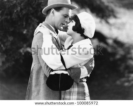 Couple embracing - stock photo
