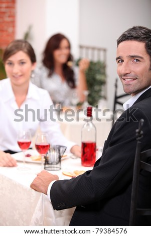 Couple having a meal - stock photo