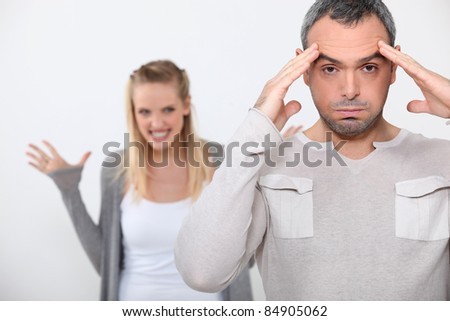 Couple having argument - stock photo