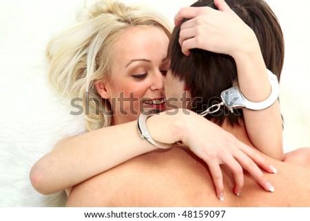 Couple having sexual intercourse - stock photo