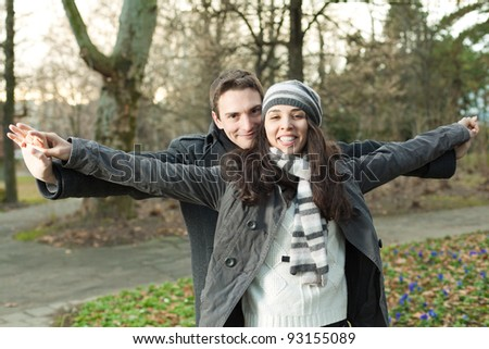 Couple in love enjoying time together - stock photo