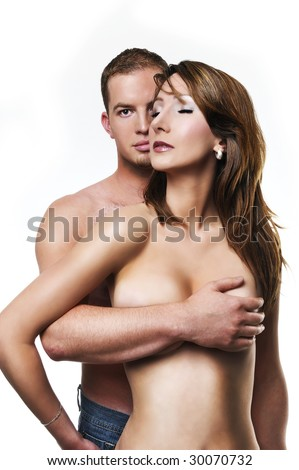 couple in love /sexy couple - stock photo