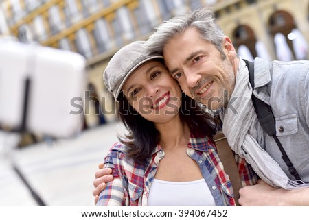 Couple in Spain taking selfie picture