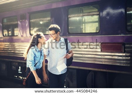 Couple Love Dating Togetherness Happiness Concept - stock photo