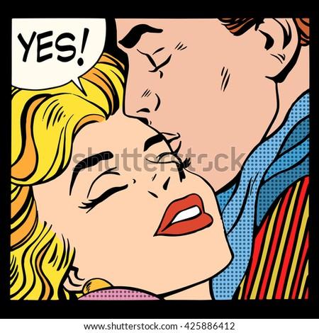 Couple love Yes - stock photo