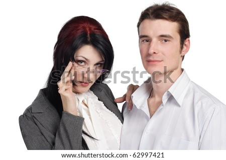 Couple man woman together isolated. More images of this models you can find in my portfolio