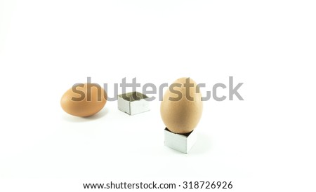 Couple of egg isolated on white background