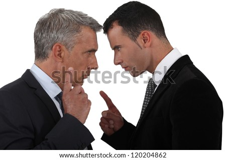 Couple of executives discussing - stock photo