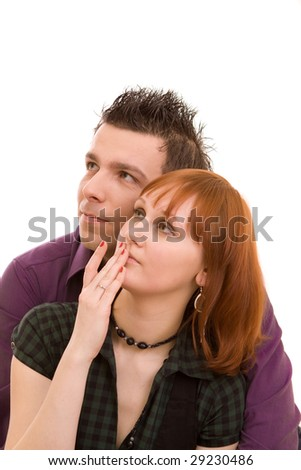 Couple on a white background
