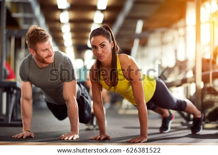 Blonde gym trainer helps her client with his cardio - 3 5