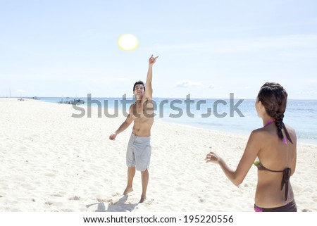 couple on vacation in Boracay in the Philippines