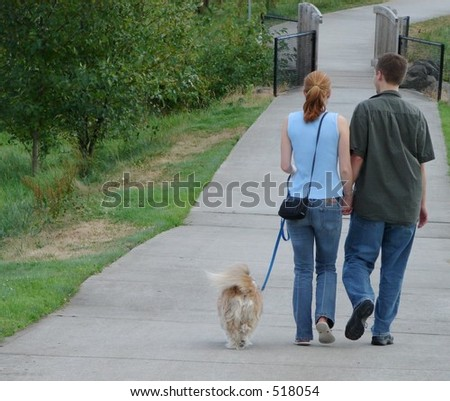 Couple Park Dogwalking
