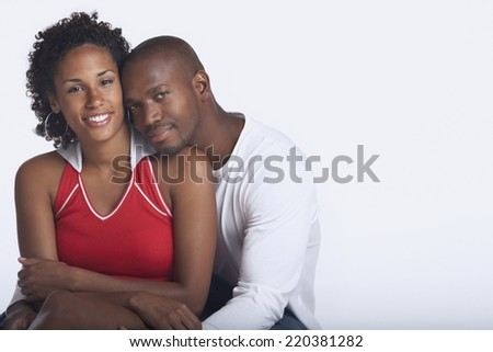 Couple posing for the camera - stock photo