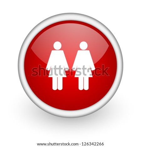 couple red circle web icon on white background