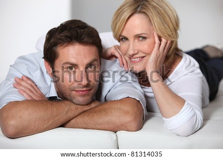 Couple relaxing - stock photo
