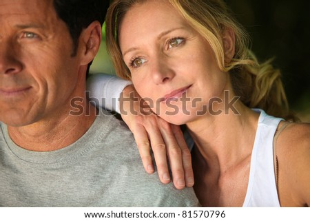 Couple resting - stock photo