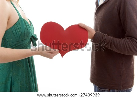 Couple share their heart in relationship