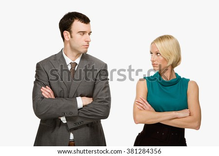 Couple staring at each other - stock photo