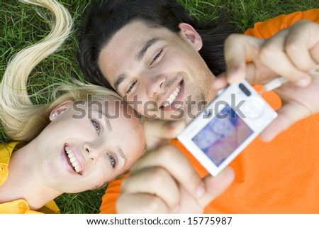 Couple taking photo