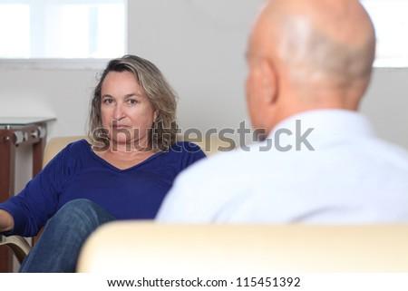 Couple talking - stock photo