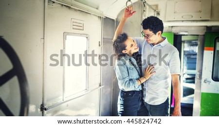 Couple Transportation Casual Commuter Train Concept