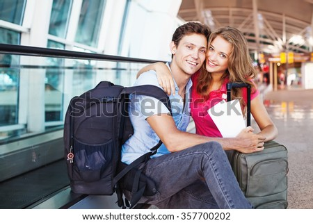 couple traveling together  - stock photo