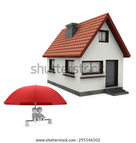 couple under umbrella - stock photo
