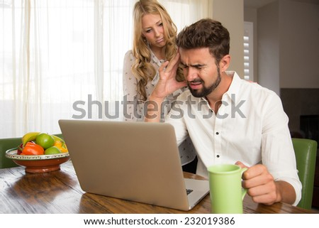 Couple with financial problems  - stock photo
