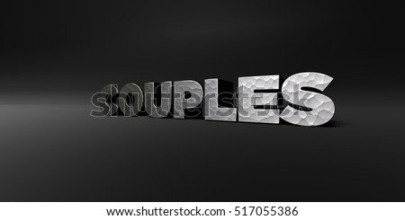 COUPLES - hammered metal finish text on black studio - 3D rendered royalty free stock photo. This image can be used for an online website banner ad or a print postcard.