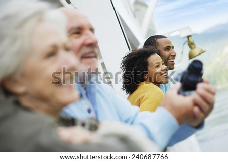 Couples on a Cruise Boat - stock photo