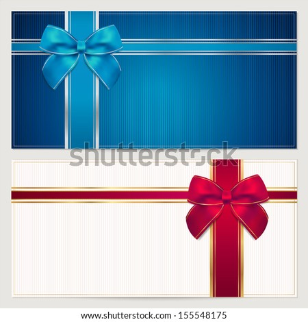 Coupon Voucher Gift Certificate Invitation Gift Stock Illustration