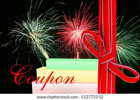 coupon, voucher, gutschein - stock photo