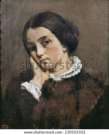 COURBET, Gustave (1819-1877), Portrait of Zelie Courbet, 1846, Realism, Oil on canvas