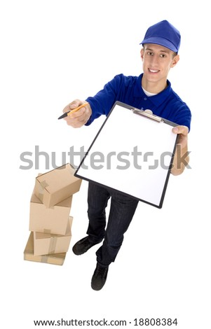 Courier - stock photo