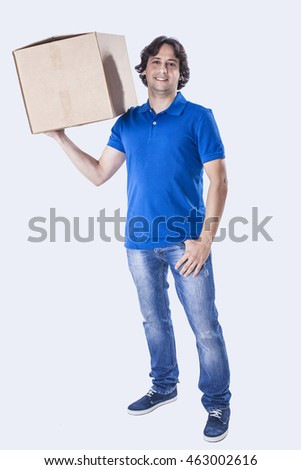 Courier delivering box
